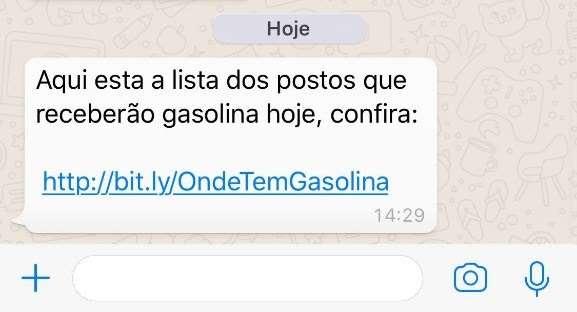 Falta de combustível gera novo golpe via WhatsApp