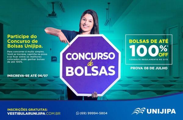 NÃO PERCA! - UNIJIPA lança concurso de bolsas estudantis de até 100%