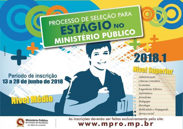MP de Rondônia abre inscrições para seleção de estagiários de nível médio e superior