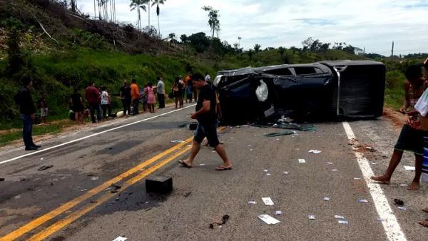 Candidato a deputado estadual de Rondônia se envolve em grave acidente na BR-364