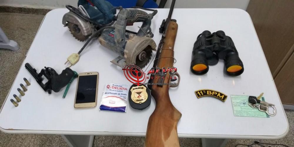 Alvorada do Oeste - Policia prende casal por posse de arma de fogo
