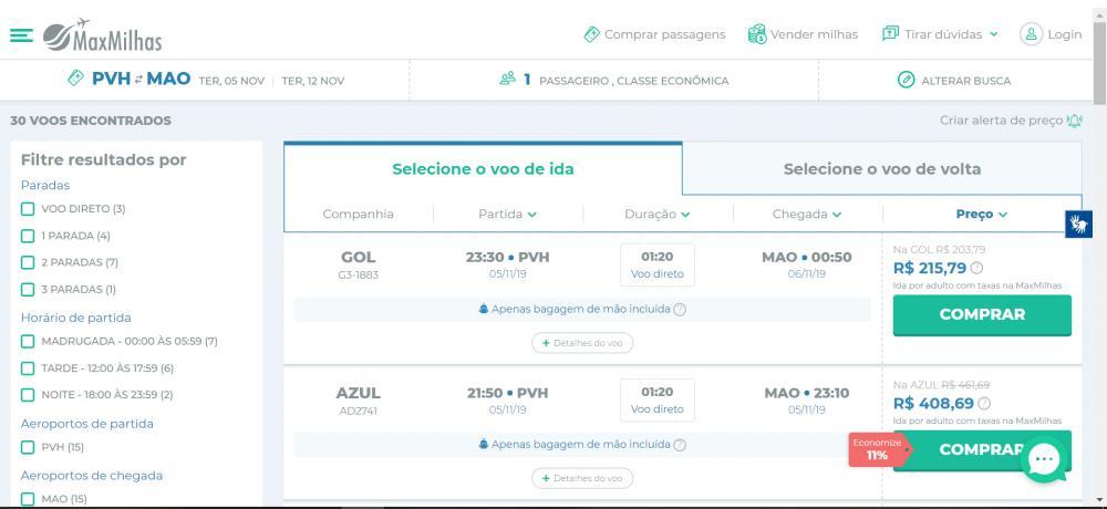 Companhia surpreende e lança promoção de passagens aéreas de ida e volta por apenas R$ 426 nos voos de Porto Velho