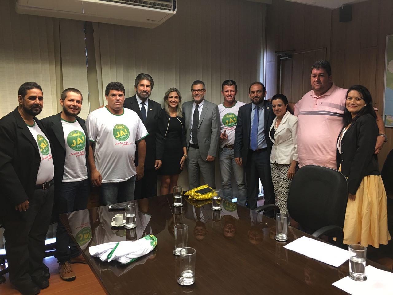 """Alvorada do Oeste - Movimento """"LINHÃO JÁ"""" se reúne com ministro em Brasília"""