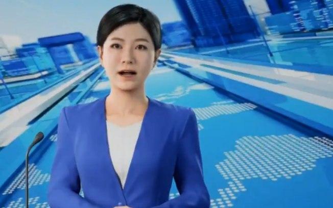 China cria a primeira apresentadora de jornal baseada em inteligência artificial