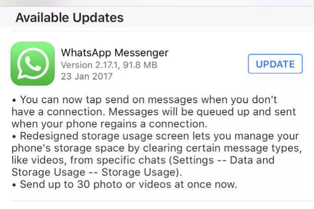 WhatsApp para iOS agora permite enviar mensagens mesmo sem internet