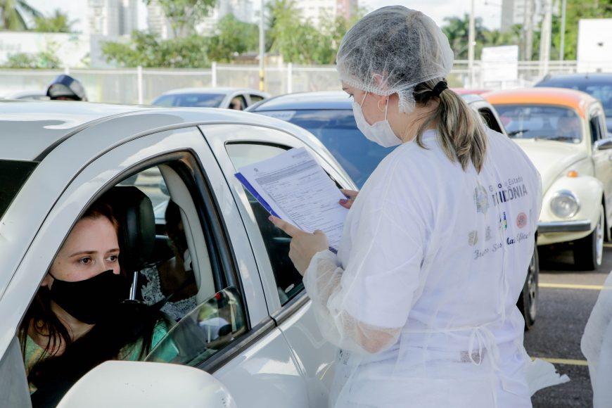 Governo realiza mais de 1.500 testes rápidos durante mais um drive thru em Porto Velho