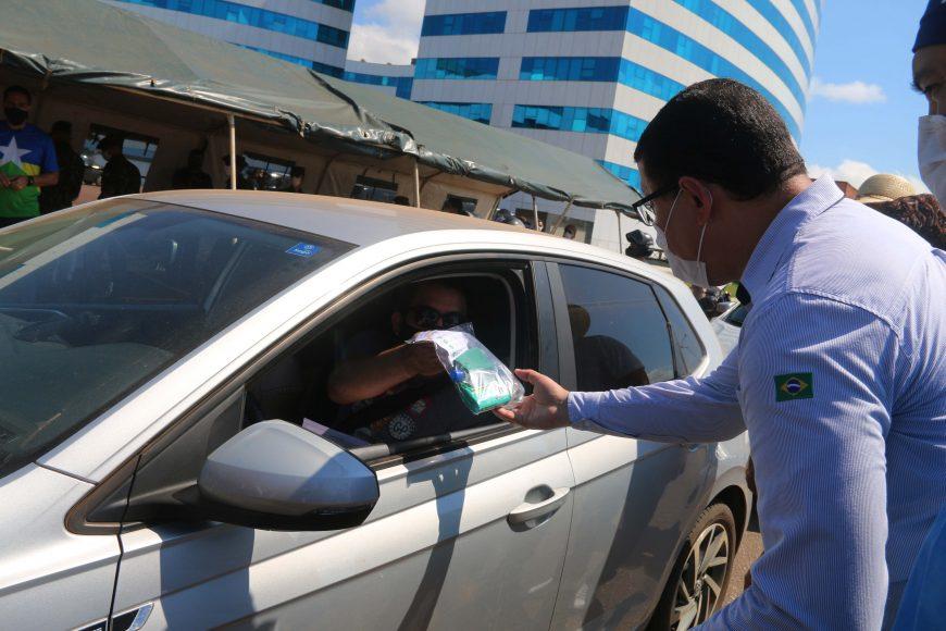Kits de medicamentos são entregues para positivos de covid-19 na testagem rápida realizada pelo Governo de Rondônia