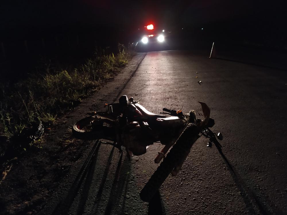 Alvorada do Oeste - Mulher é atingida por motocicleta na RO 473