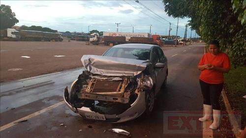 Polícia registra danos materiais em colisão na BR-174