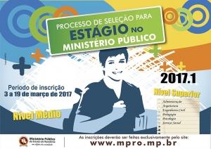 Abertas inscrições para seleção de estagiários no MP de Rondônia