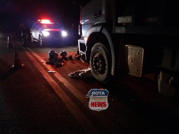 Urgente: criança de 1 ano e 2 meses morre em grave acidente no trevo de Colorado na BR-364