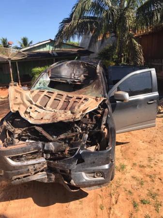 Deputado Laerte Gomes em grave acidente na BR 429, em Rondônia