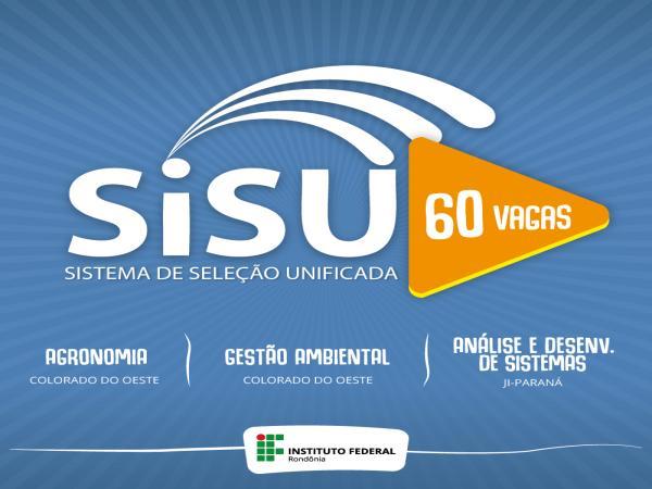 IFRO oferece 60 vagas no SiSU 2017/2