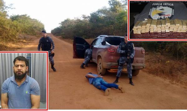Polícia prende rondoniense com aproximadamente 50 quilos de droga em Juína